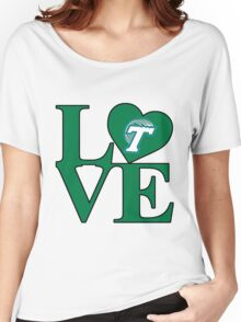 Love Tulane  Women's Relaxed Fit T-Shirt