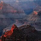 Grand Canyon Alpenglow by Stephen Vecchiotti