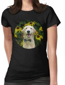 Classy Golden Retriever Womens Fitted T-Shirt
