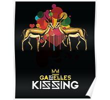 Gazelles Kissing Poster