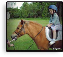 Pony Rides for Princesses Canvas Print