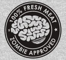 100% Fresh Meat and Zombie Approved v2 Kids Clothes