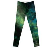 Blue Green Galaxy Leggings
