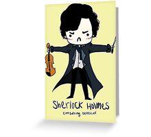 Sherlock is Not a Psychopath Greeting Card