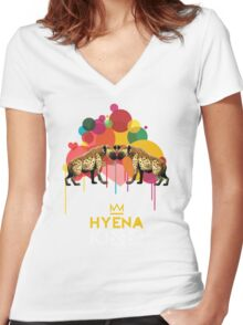 Hyena Kiss Women's Fitted V-Neck T-Shirt