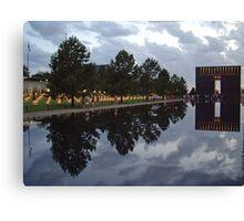 Floating Reflections -- Oklahoma City Memorial Canvas Print