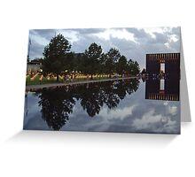Floating Reflections -- Oklahoma City Memorial Greeting Card