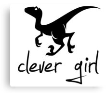 Clever Girl Left-Facing Raptor Canvas Print
