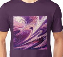Purple Floral Flow Abstract Unisex T-Shirt