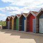 Blyth Beach Huts by laurawhitaker
