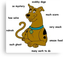 Scabby Doge - Dark Text Canvas Print