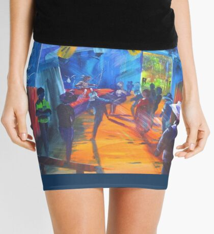 GYMPIE MUSTER COLLECTION - BLUES in the Grove 2 Mini Skirt