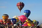 Balloon Traffic Jam -- Albuquerque, New Mexico by John Carpenter