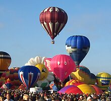 Balloon Traffic Jam -- Albuquerque, New Mexico by John Carpenter