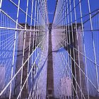 Steel Webwork -- Brooklyn Bridge, New York City by John Carpenter