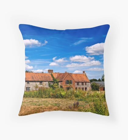 Old Barns at Pensthorpe Throw Pillow