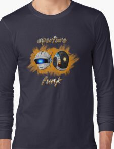 Aperture Funk - Orange Long Sleeve T-Shirt