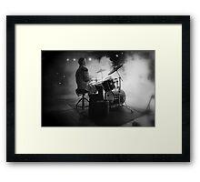 Smokin' drummer! Framed Print