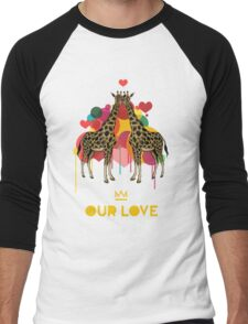 Giraffes Our Love Men's Baseball ¾ T-Shirt