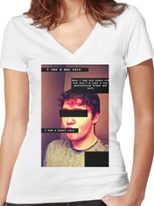 Human Kittens Women's Fitted V-Neck T-Shirt