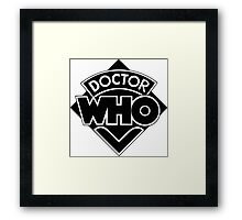 Classic Doctor Who (Black) Framed Print