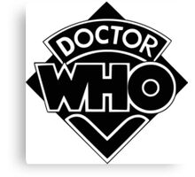 Classic Doctor Who (Black) Canvas Print