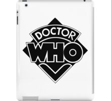 Classic Doctor Who (Black) iPad Case/Skin
