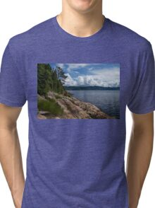 Coastal Beauty of Saguenay River in Quebec, Canada Tri-blend T-Shirt