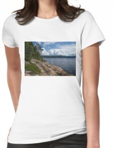 Coastal Beauty of Saguenay River in Quebec, Canada Womens Fitted T-Shirt