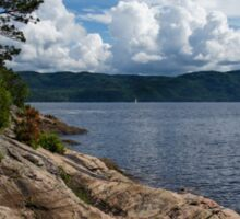 Coastal Beauty of Saguenay River in Quebec, Canada Sticker