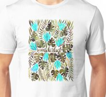 Tropical Wanderlust – Turquoise & Olive Unisex T-Shirt