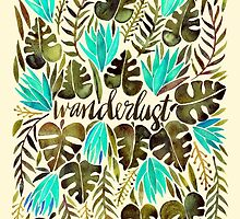 Tropical Wanderlust – Turquoise & Olive by Cat Coquillette