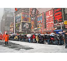 The Snow Must Go On Photographic Print