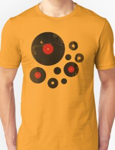 Vintage Vinyl Records Music DJ Retro Grunge T-Shirt! T-Shirt