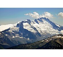 Snow capped peaks Photographic Print