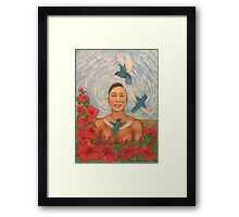 Spring Amazed By The Hummingbirds Framed Print