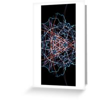 Blue Red on Black Greeting Card