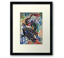 DRAGONS PATH Framed Print
