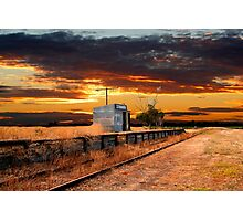 Sunset at the Coonawarra Rail Station Photographic Print