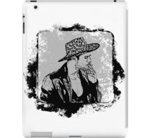 Cowboy Smoking Hat - Cool Grunge Vintage iPad Case/Skin