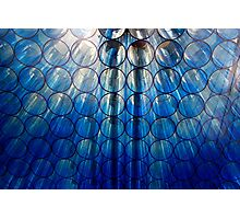 Blue Glass Lighting 2 Photographic Print
