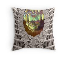 FRACTAL SAURUS Throw Pillow