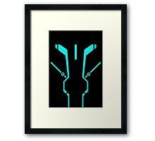Blue Tronic Framed Print