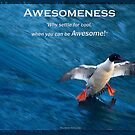 Merganser Duck Motivational Poster by Val  Brackenridge