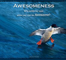Merganser Duck Motivational Poster by NaturePrints