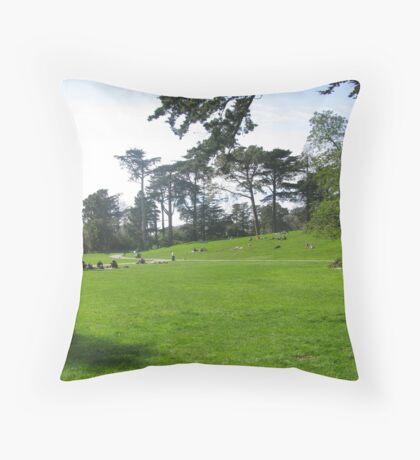 Be In the Park Throw Pillow