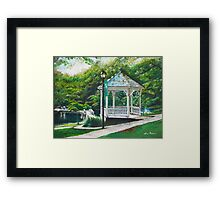 Salem Lake Spring Park Framed Print