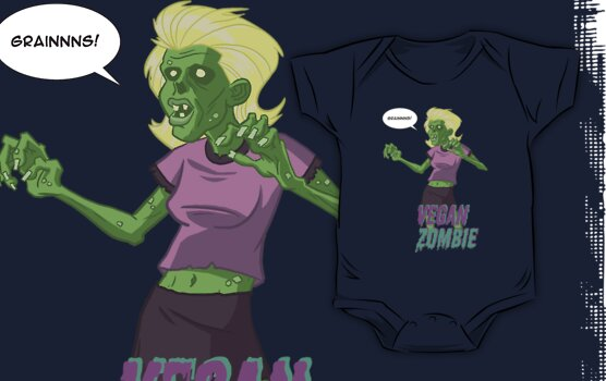 Lady Vegan Zombie by Dennis Culver