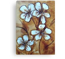 Coffee Flowers Canvas Print