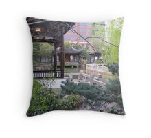 Peace in Portland Throw Pillow